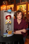 Joan Cusack signing Jessie Doll at Disney Store in Chicago
