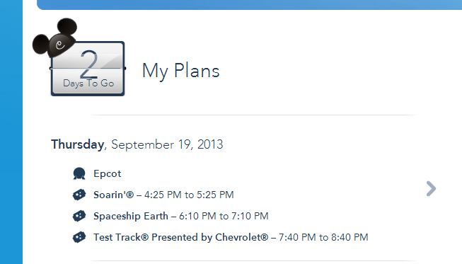 MMP - My Plans Page